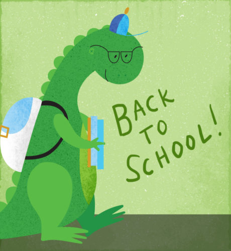 Back to School Dino E-Card