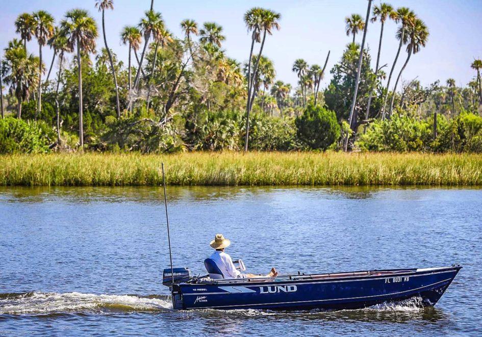 Boat on Crystal River-edit