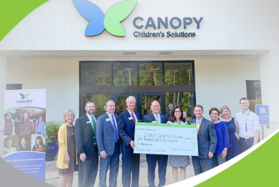 Leaders from the Regions Foundation and Regions Bank joined Canopy Children's Solutions in Jackson, Miss., to announce new grant funding for vital services supporting children across the state.
