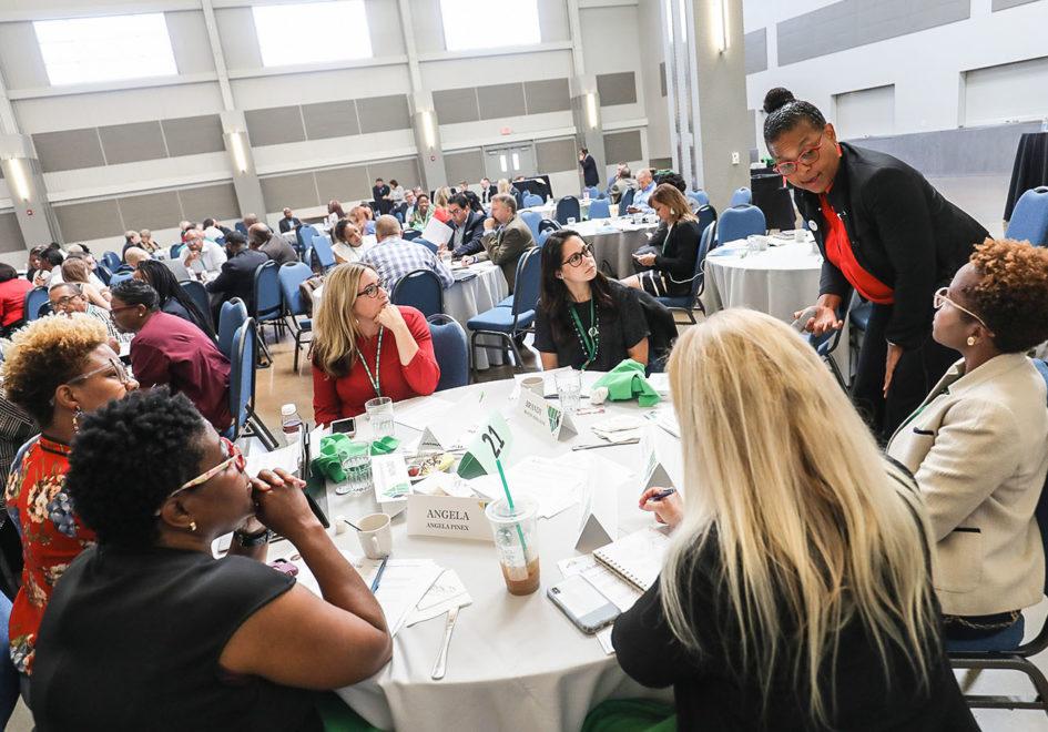 Professor Susan Perkins leads entrepreneurs through a branding exercise.