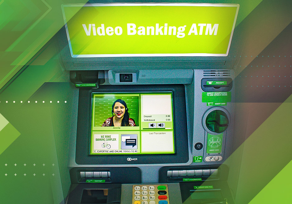 Regions' Video Banking ATMs allow people to choose standard ATM service or personal service from a Regions Video Banker who speaks with customers via live, two-way video.