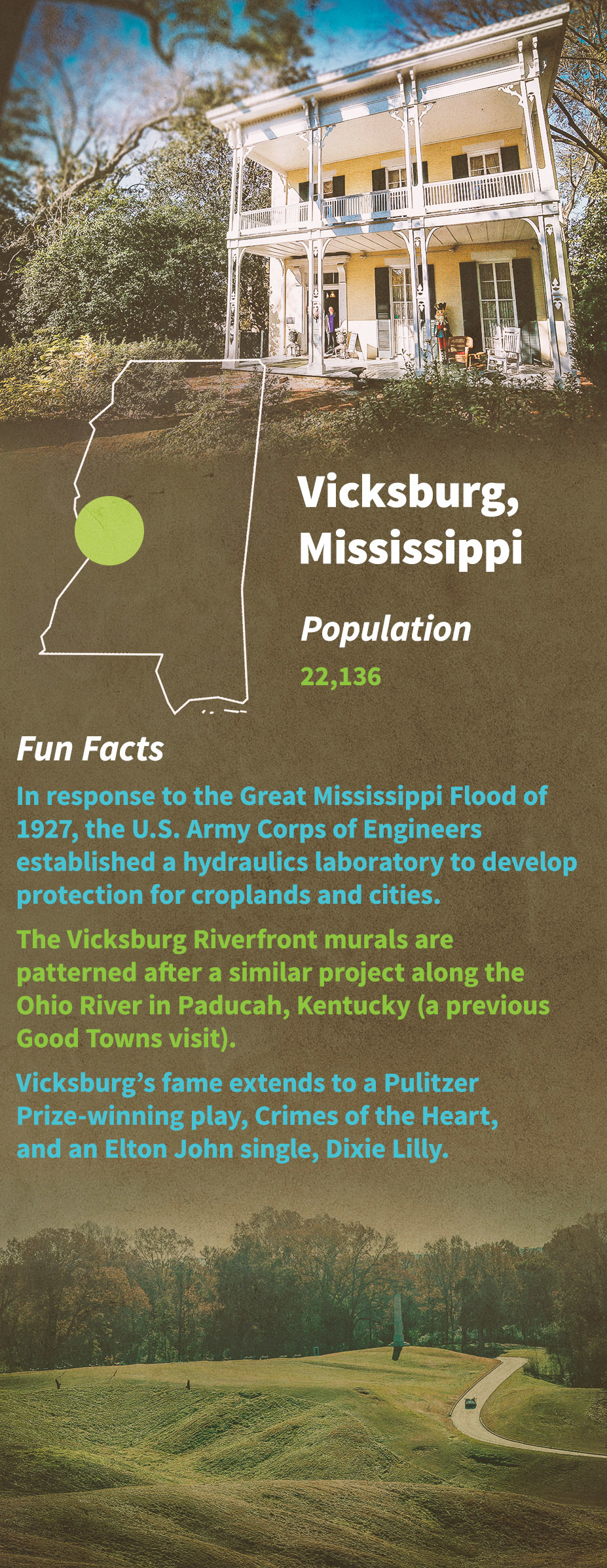 Vicksburg Fun Facts