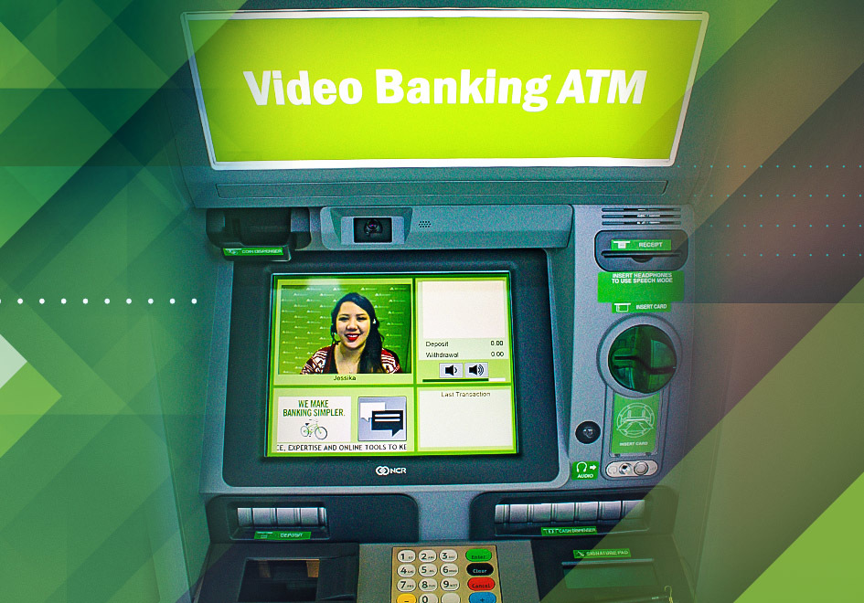 Regions Video Banking ATMs allow people to choose standard ATM service or personal service from a Regions Video Banker.