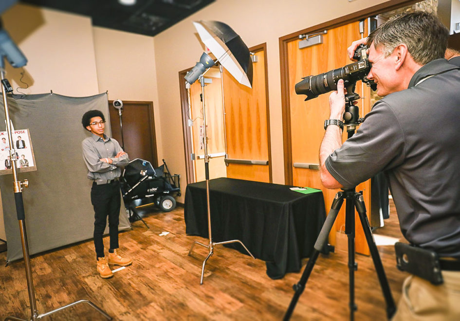 Professional photographer Gary Jones provided a free business photo for each student.