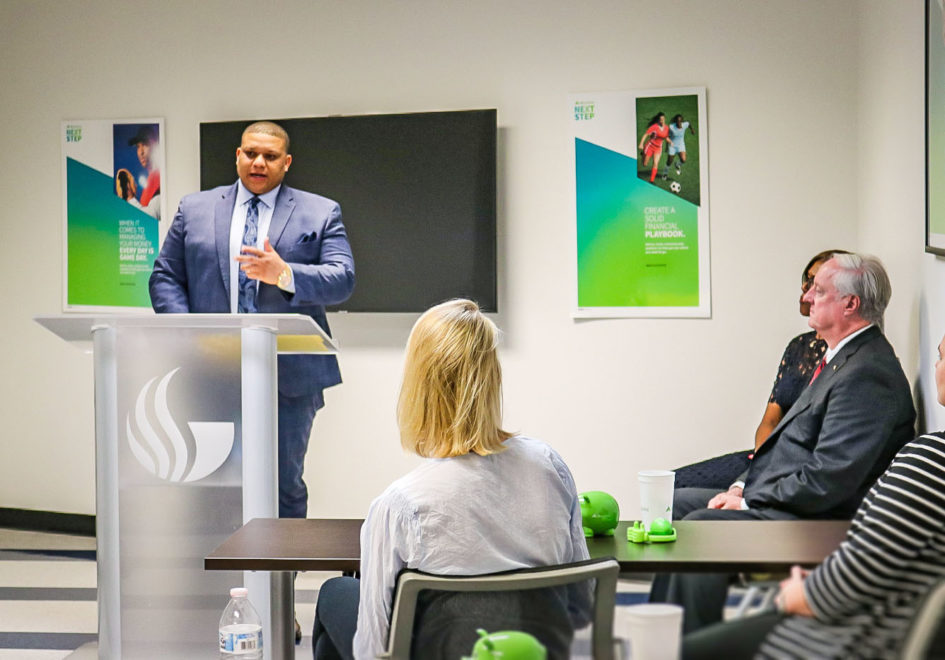 Brad Horton, GSU Senior Athletic Director for Panther Athlete Support Services, worked with Regions to develop the financial education program. It was a top priority for Horton after being exposed to similar Regions training as a student-athlete at Mississippi State University.