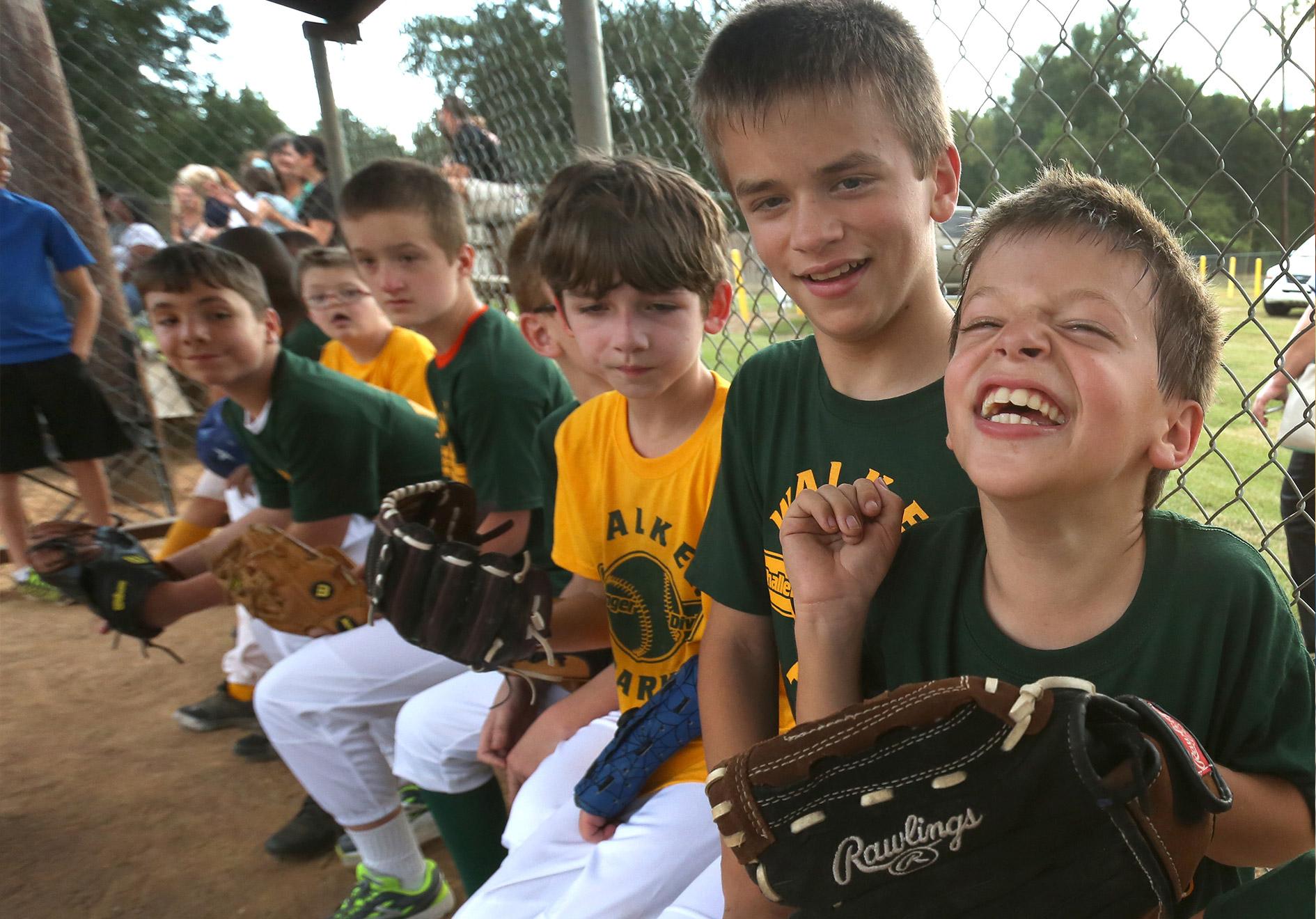 Children at Challenger's Field