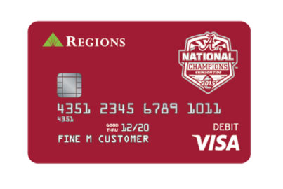 Alabama CFP National Champions CheckCard