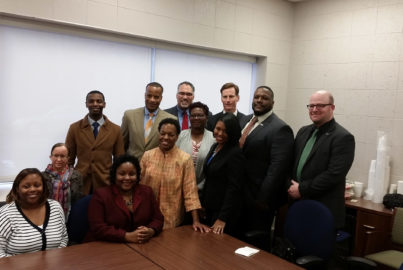 small-business owners meet at a Regions Bank branch in Birmingham, Ala.