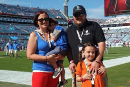 David and Family at the Florida Game