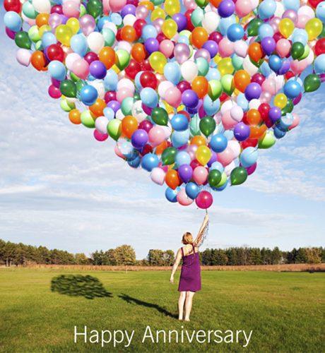 Anniversary Balloons E-Card