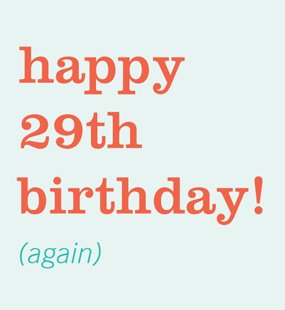 Happy 29th Birthday E Card