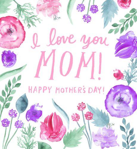 I love you Mom! E-Card