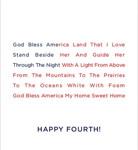 God Bless America E-Card