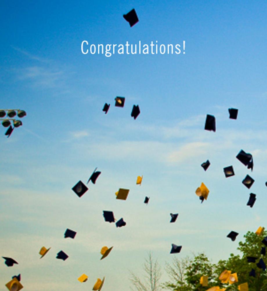 congrats grad e card doing more today