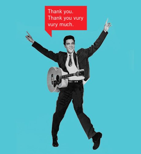 Elvis Thank You E-Card