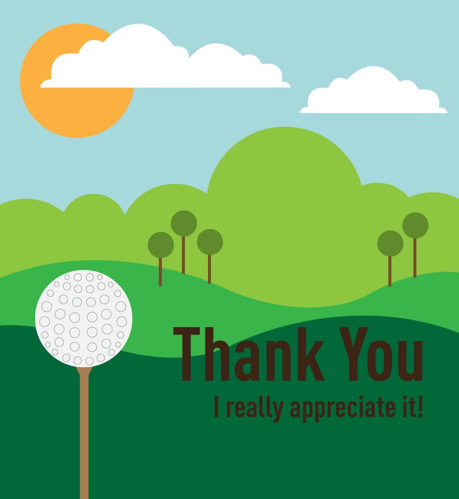 Thank You Golf E Card Doing More Today