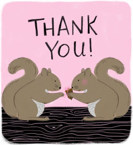 Thank You Squirrels E-Card