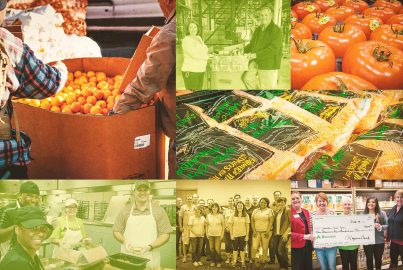 Gathering neighbors, friends and family around the table to help fight food insecurity.